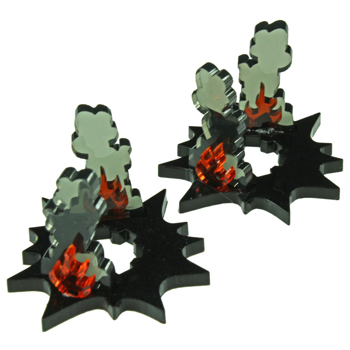 Mech Wreckage Markers (2) - LITKO Game Accessories