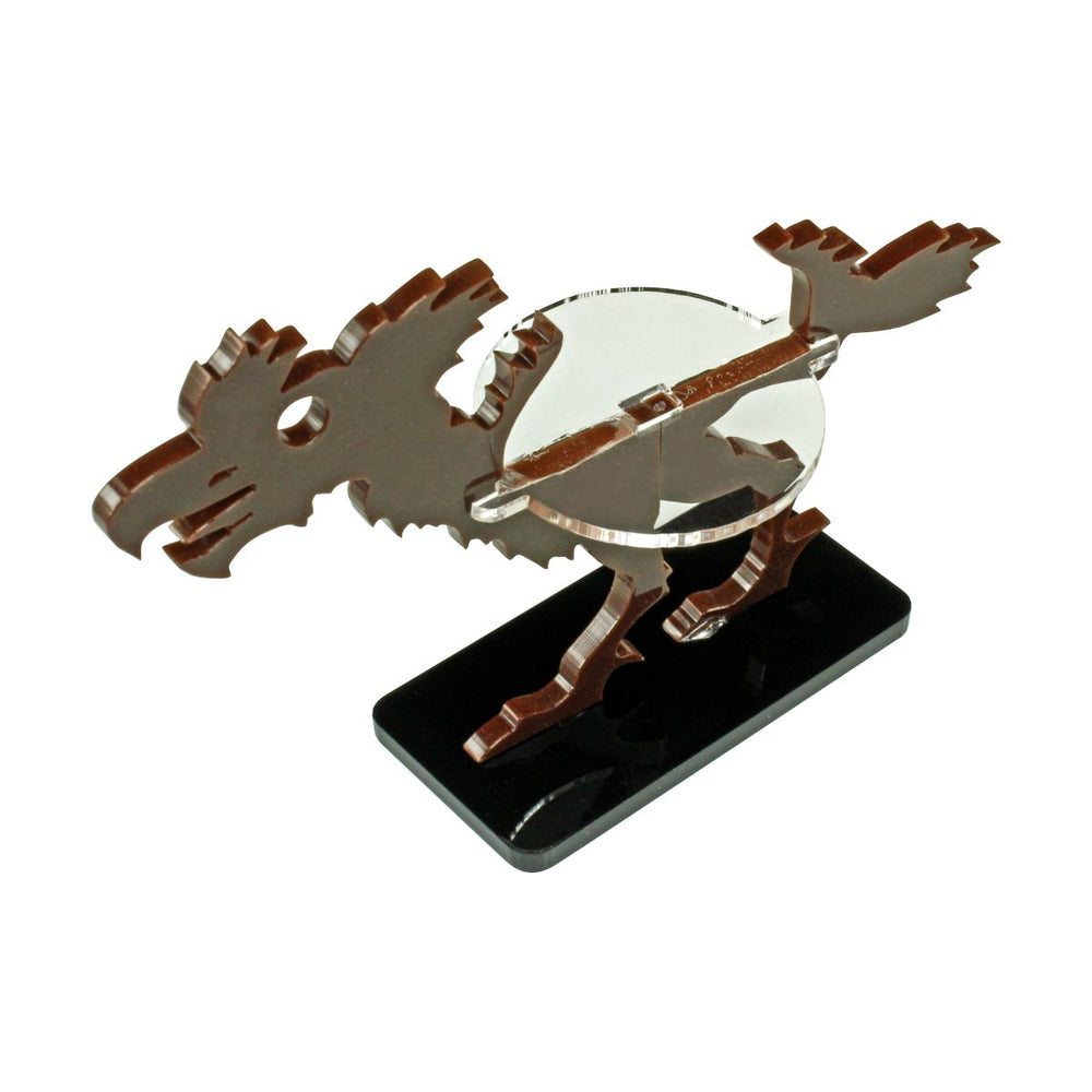 Terror Bird Character Mount with 25x50mm Base, Brown - LITKO Game Accessories