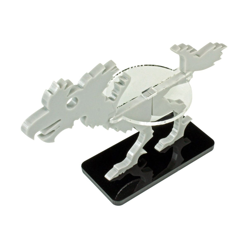 Terror Bird Character Mount with 25x50mm Base, Grey - LITKO Game Accessories