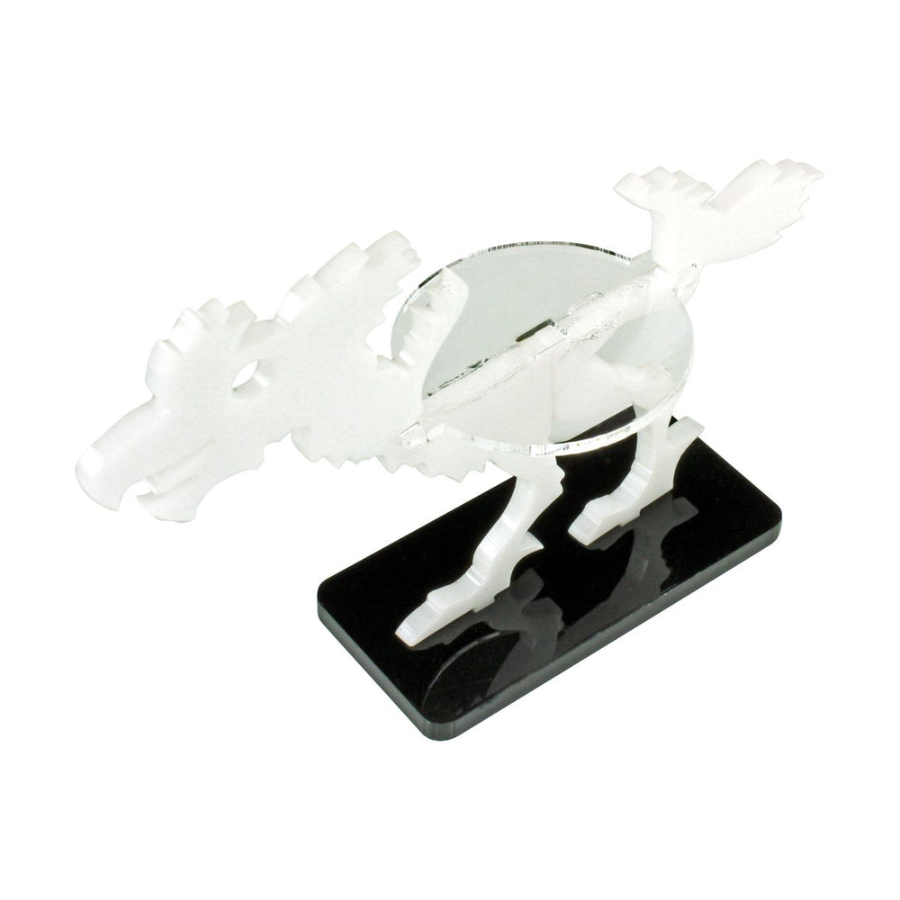 Terror Bird Character Mount with 25x50mm Base, White - LITKO Game Accessories
