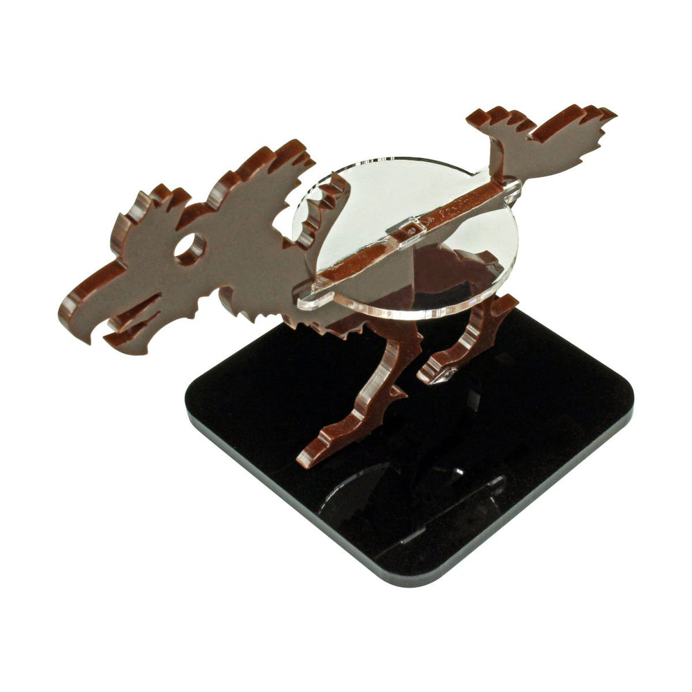 Terror Bird Character Mount with 2-inch Square Base, Brown - LITKO Game Accessories