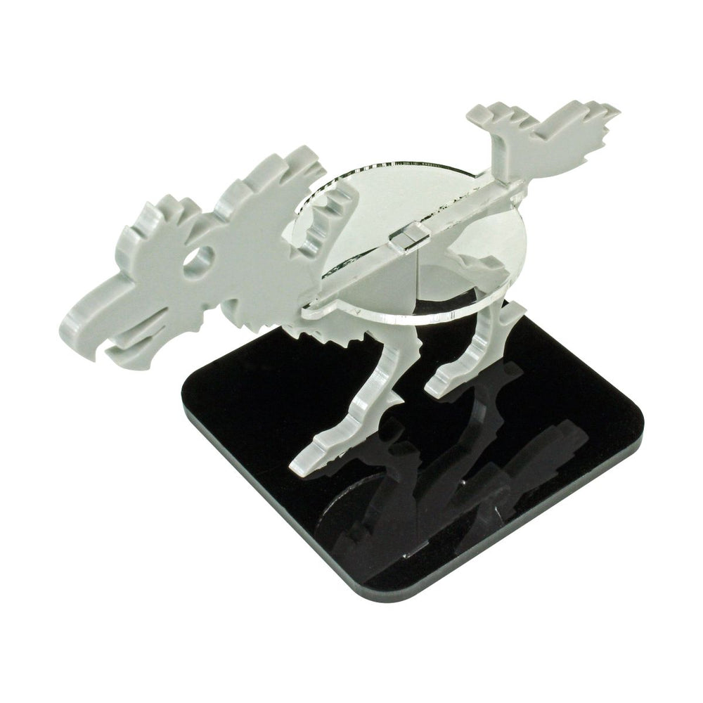 Terror Bird Character Mount with 2-inch Square Base, Grey - LITKO Game Accessories