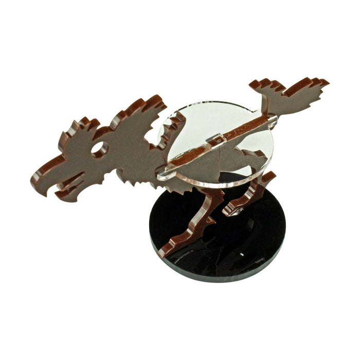 Terror Bird Character Mount with 40mm Circular Base, Brown - LITKO Game Accessories