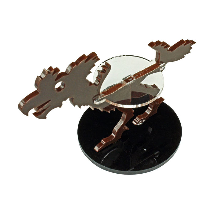 Terror Bird Character Mount with 50mm Circular Base, Brown - LITKO Game Accessories