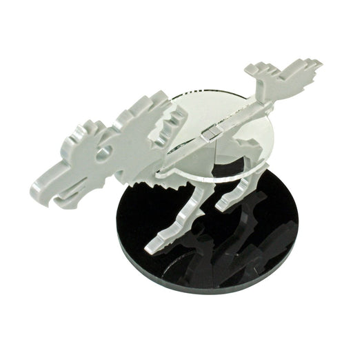 Terror Bird Character Mount with 50mm Circular Base, Grey - LITKO Game Accessories