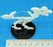 Terror Bird Character Mount with 50mm Circular Base, White - LITKO Game Accessories