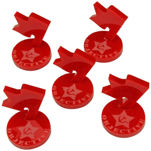 WWII Russian Mini Objective Markers, Red (5) - LITKO Game Accessories