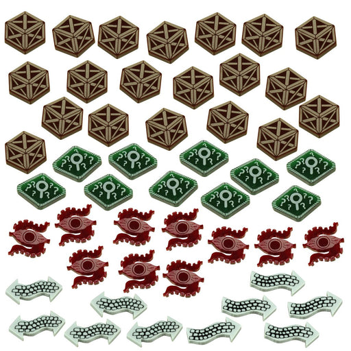 Horror Card Game Adventure Token Set, Multi-Color (50) - LITKO Game Accessories