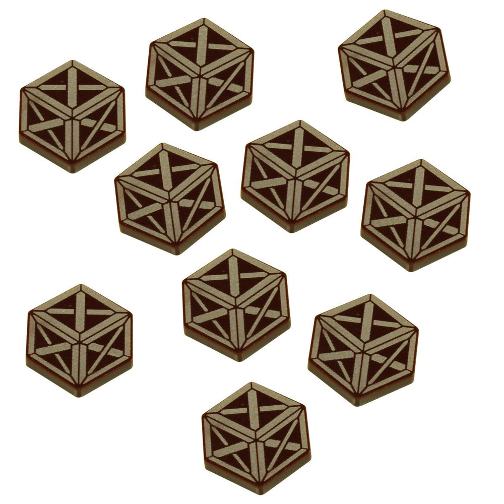 Horror Card Game Resource Tokens, Brown (10) - LITKO Game Accessories