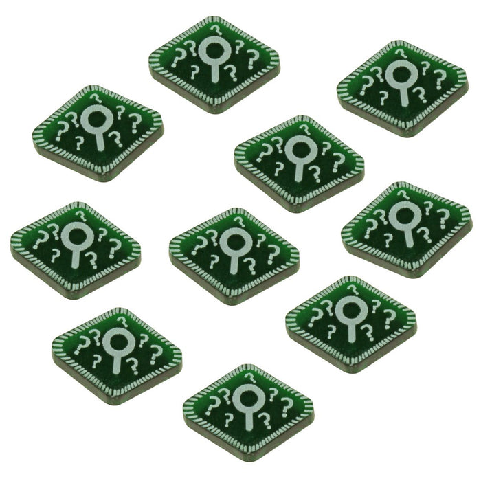 Horror Card Game Clue Tokens, Translucent Green (10) - LITKO Game Accessories