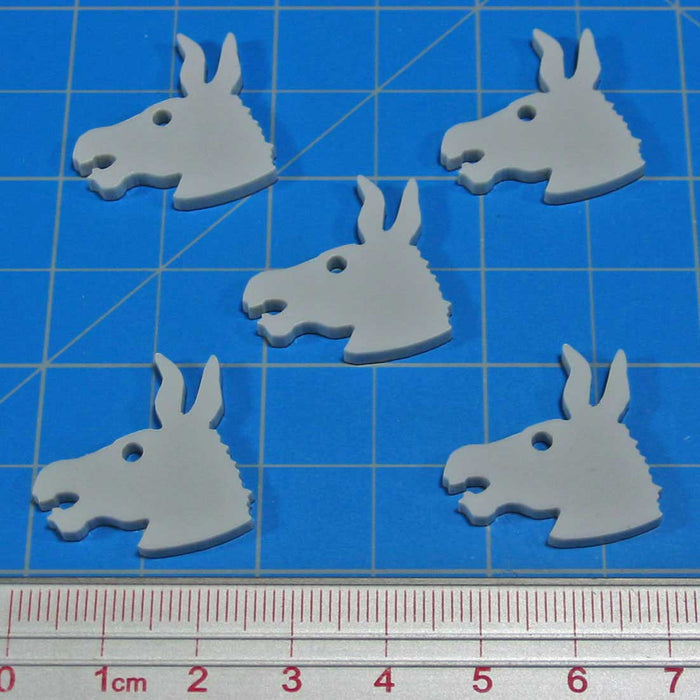 Donkey Tokens, Grey (5) - LITKO Game Accessories