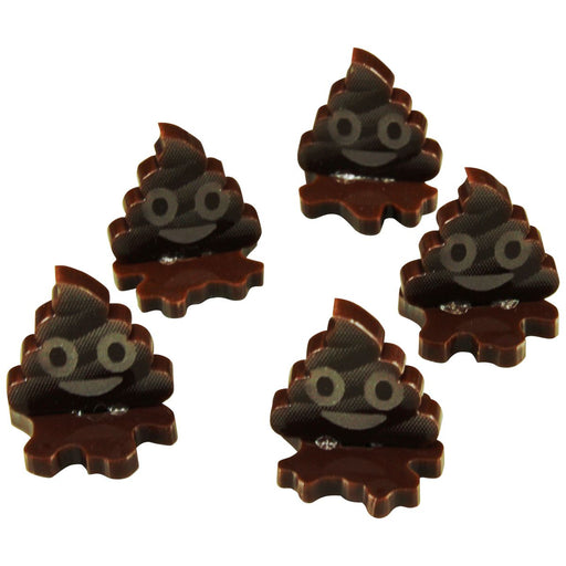 Poop Emoji Markers, Brown (5) - LITKO Game Accessories