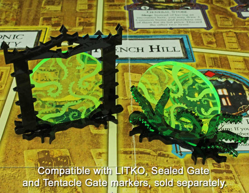 Cthulhu Tentacles, Sealed Gate Tokens, Fluorescent Green (3) - LITKO Game Accessories