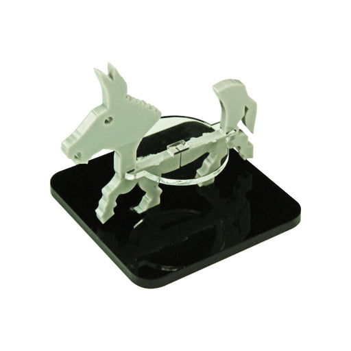 Donkey Character Mount with 2-inch Square Base, Grey - LITKO Game Accessories