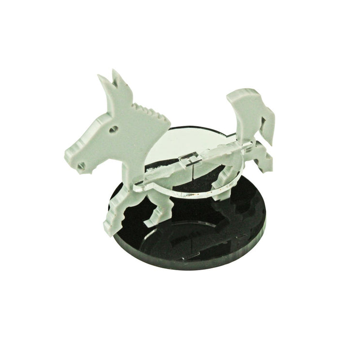 Donkey Character Mount with 40mm Circular Base, Grey - LITKO Game Accessories