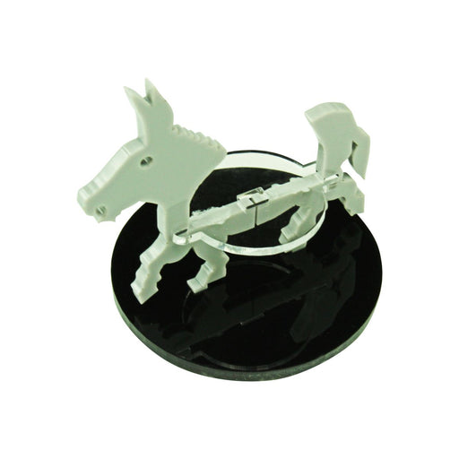 Donkey Character Mount with 50mm Circular Base, Grey - LITKO Game Accessories
