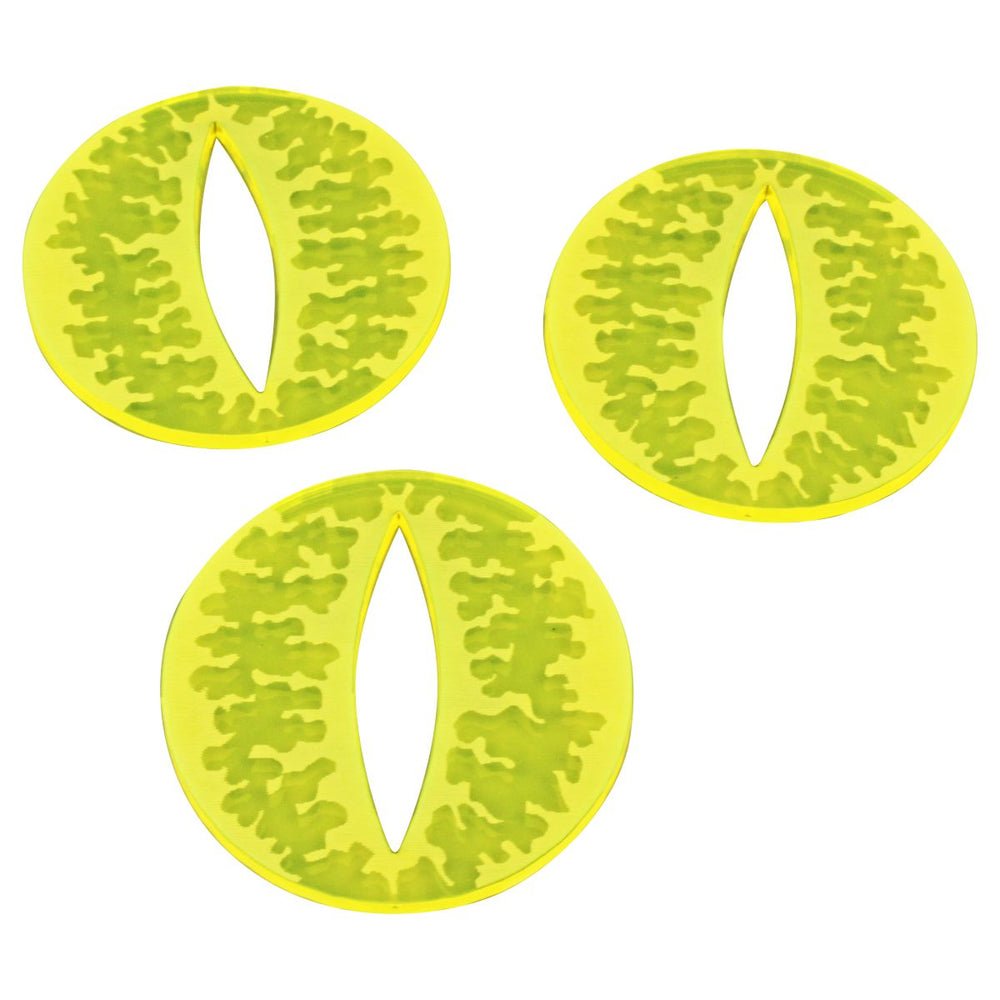 Cthulhu Evil Eye Sealed gate Tokens, Fluorescent Yellow (3) - LITKO Game Accessories