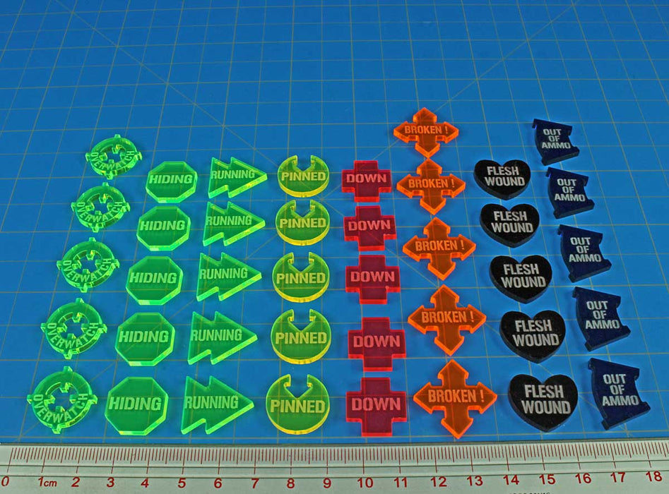 Armageddon Combat Token Set, Multi-Colored (40) - LITKO Game Accessories