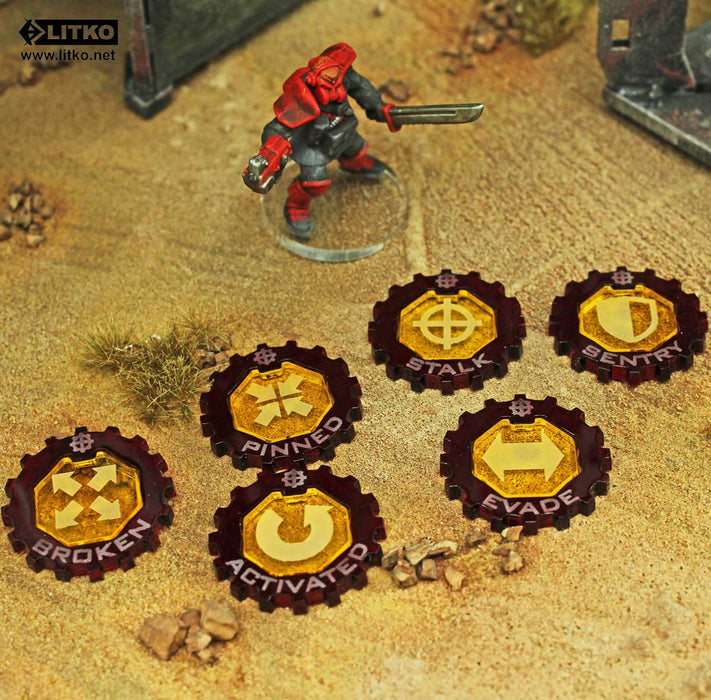 WZ: Resurrection Premium 2-tone Game Token Set (35) - LITKO Game Accessories
