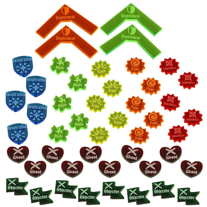 Rune Battles Combat Token Set, Multi-Color (47) - LITKO Game Accessories