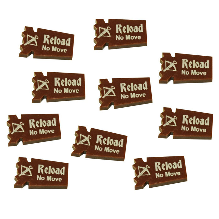 FG: Crossbow Reload Tokens, Brown (10) - LITKO Game Accessories