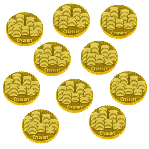Treasure Tokens, Transparent Yellow (10) - LITKO Game Accessories