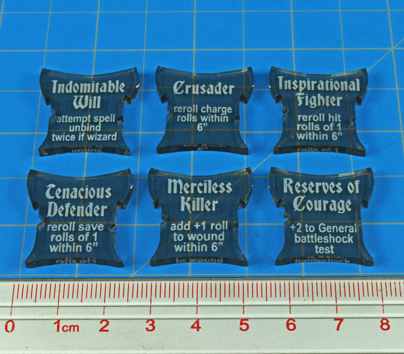 LITKO Command Ability Token Set Compatible with AoS: SKIRMISH, Transparent Bronze (6) - LITKO Game Accessories
