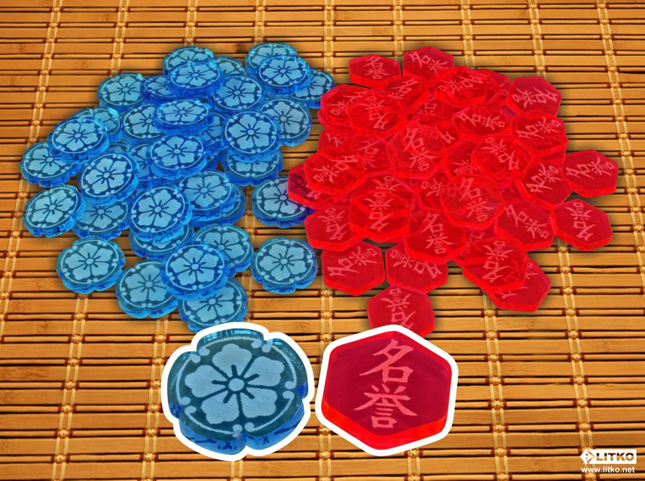 L5R: Fate and Honor Token Set (90) - LITKO Game Accessories
