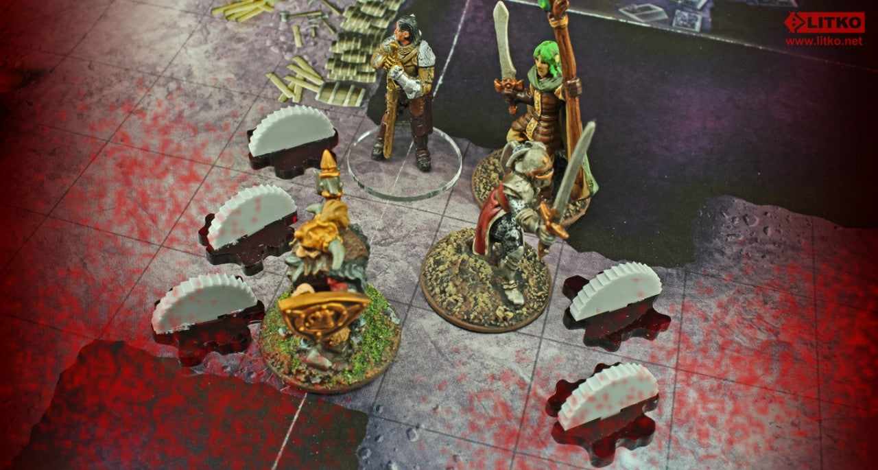 Fantasy RPG, Saw Blade Trap Markers (5) - LITKO Game Accessories