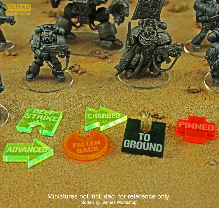 WHv8: Charged Tokens, Fluorescent Green (10) - LITKO Game Accessories
