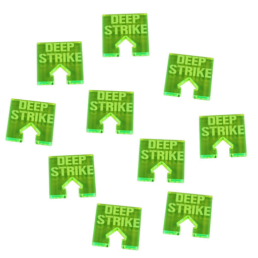 WHv8: Deep Strike Tokens, Fluorescent Green (10) - LITKO Game Accessories