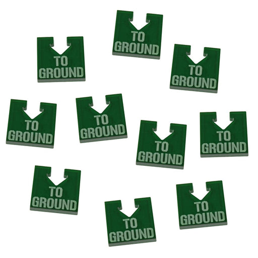 WHv8: To Ground Tokens, Translucent Green (10) - LITKO Game Accessories