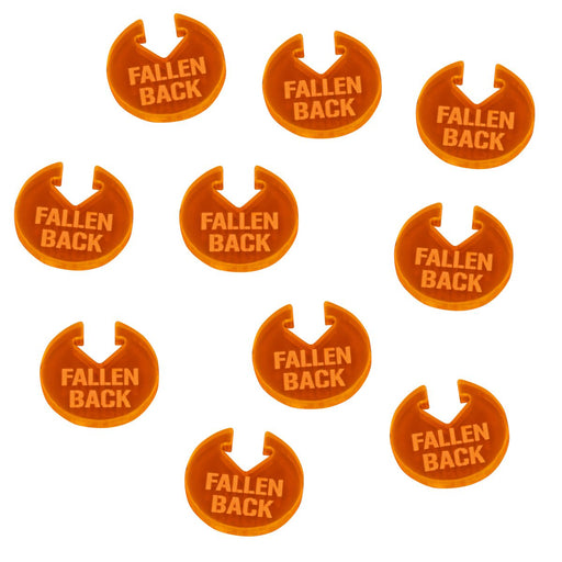 WHv8: Fallen Back Tokens, Fluorescent Orange (10) - LITKO Game Accessories