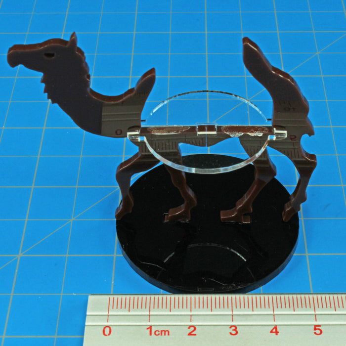 Camel Character Mount with 50mm Circle Base, Brown - LITKO Game Accessories
