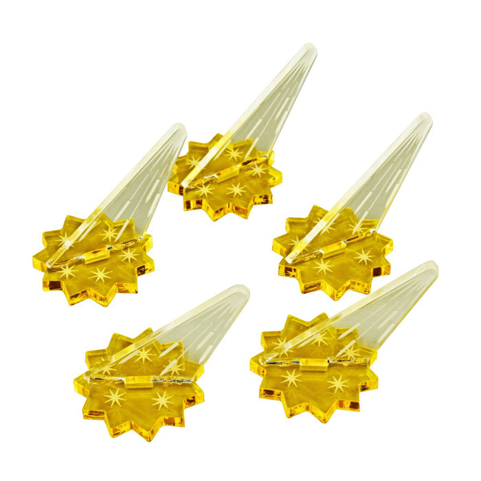 Dart Trap Markers, Transparent Yellow & Clear (5) - LITKO Game Accessories