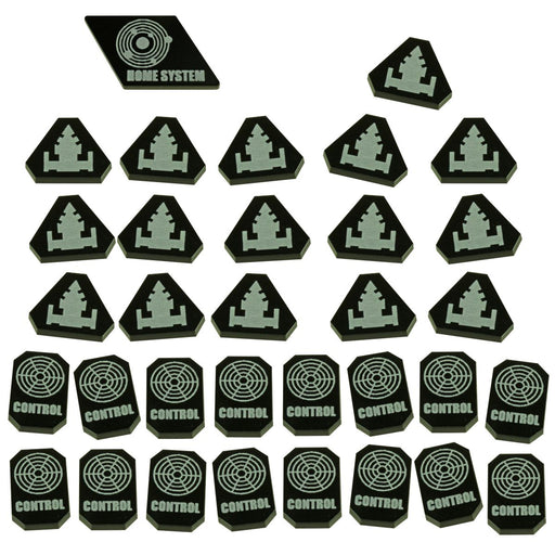 TI4: Command & Control Token Set, Black (33) - LITKO Game Accessories