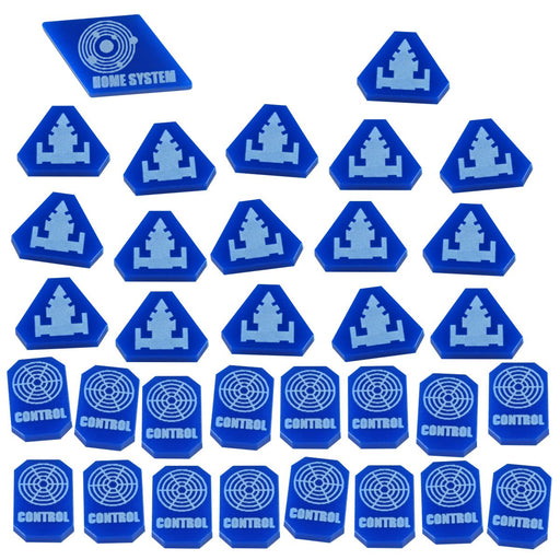 TI4: Command & Control Token Set, Blue (33) - LITKO Game Accessories