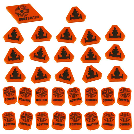 LITKO Command & Control Token Set compatible with TI:4 Expansion, Orange (33) - LITKO Game Accessories