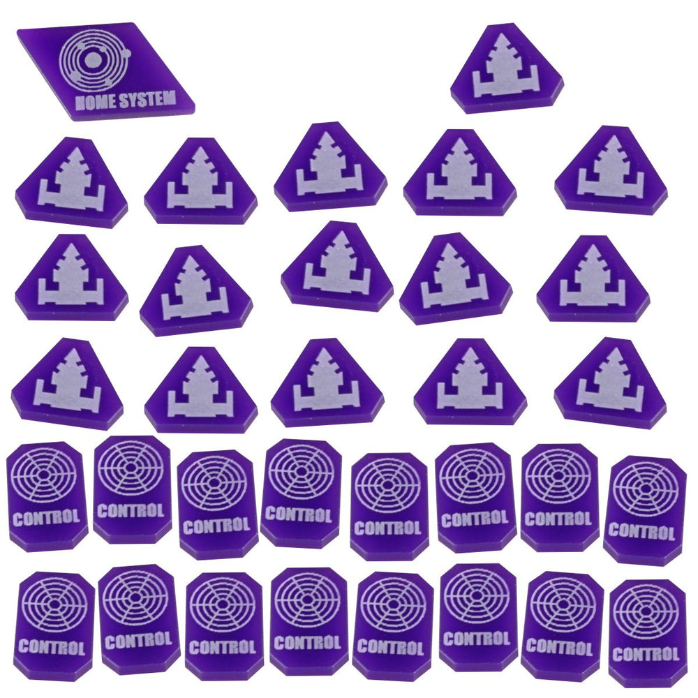 TI4: Command & Control Token Set, Purple (33) - LITKO Game Accessories