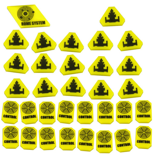 LITKO Command & Control Token Set compatible with TI:4, Yellow (33) - LITKO Game Accessories
