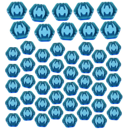 TI4: Fighter Token Set, Fluorescent Blue (50) - LITKO Game Accessories