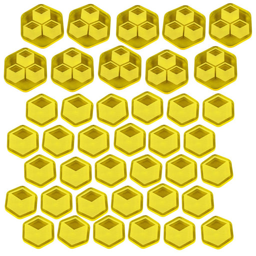 TI4: Trade Goods Token Set, Transparent Yellow (40) - LITKO Game Accessories