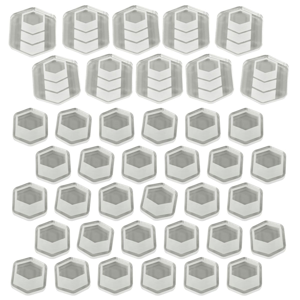 TI4: Commodity Token Set, Clear (40) - LITKO Game Accessories