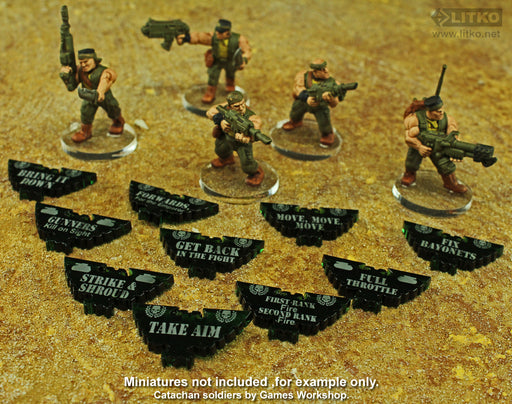 WHv8: Guard Special Orders Token Set, Translucent Green (10) - LITKO Game Accessories