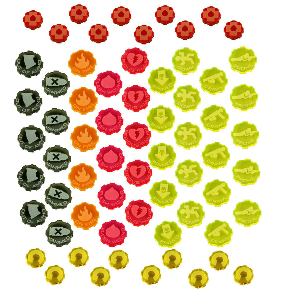 Hive City Combat Token Set, Multi-Colored (65) - LITKO Game Accessories