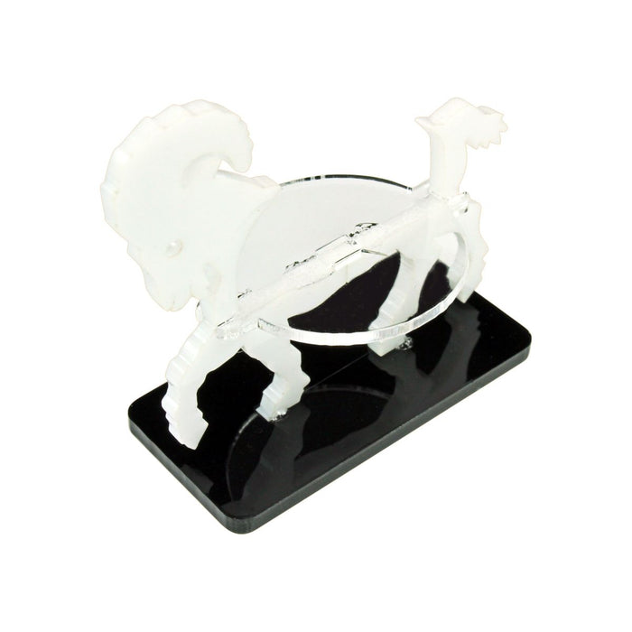 Ram Character Mount with 25x50mm Base, White - LITKO Game Accessories