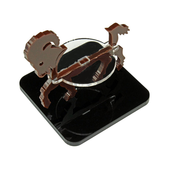 Ram Character Mount with 2-Inch Square Base, Brown - LITKO Game Accessories