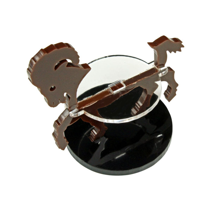 Ram Character Mount with 40mm Circular Base, Brown - LITKO Game Accessories