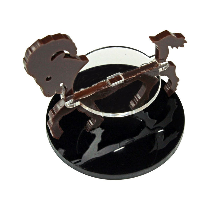 Ram Character Mount with 50mm Circular Base, Brown - LITKO Game Accessories