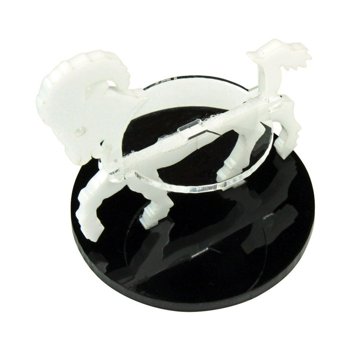 Ram Character Mount with 50mm Circular Base, White - LITKO Game Accessories